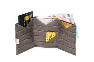 Wallet Caiman Grey